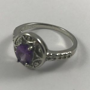 Vintage Jewelry - Vintage Silver Tone Ring, Size 10